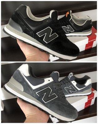Мужские кроссовки New Balance черные и серые