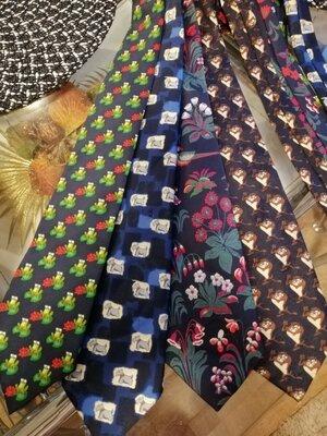 Очень класные шёлковые прикольные галстуки