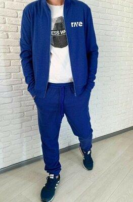 Мужской спортивный костюм структурная двухнитка