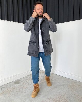 Стильная удлиненная джинсовка