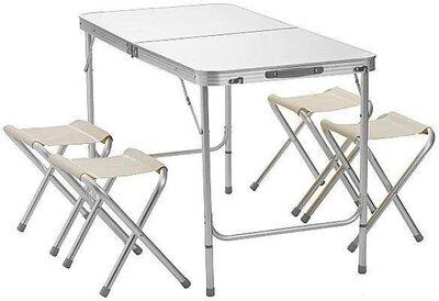 Складной туристический столик и 4 стула, стол для рыбалки, для пикника, кемпинга