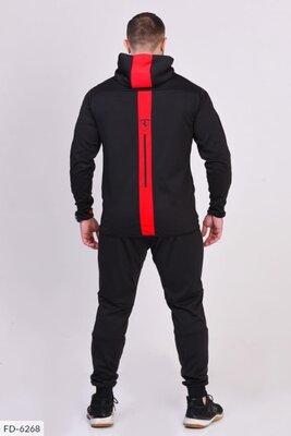 Мужской спортивный костюм Пума с красной полосой на спине
