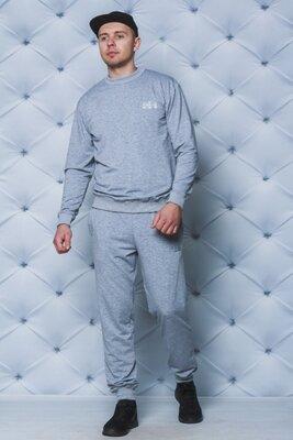 Спортивный костюм мужской светло-серый