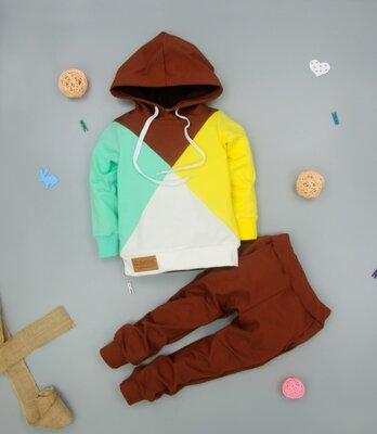 Продано: Дитячий костюм Мозаїка з капюшоном в кольорах