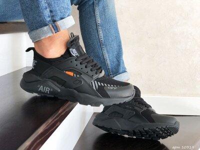 Стильные кроссовки Nike Air Huarache черные р.41-46