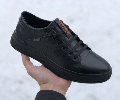 Мужские кроссовки Экко Натуральная кожа 40-45 р.