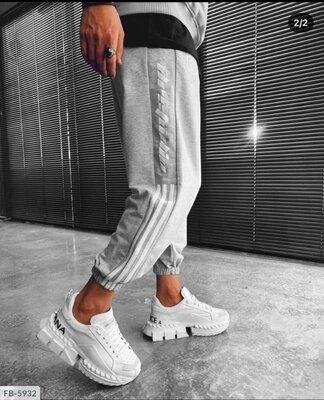 Мужские штаны свободного кроя под резинку