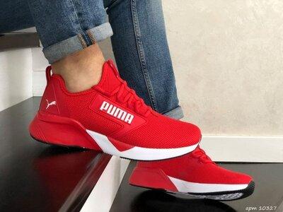 Стильные мужские кроссовки Puma красные р.41-46