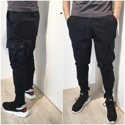 Мужские брюки с карманами карго