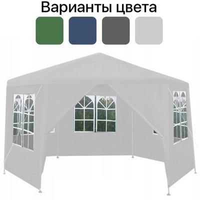 Садовый павильон Malatec шестигранный c окнами белый