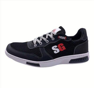 Кросівки чоловічі літні чорні Ск-8-4Чрн