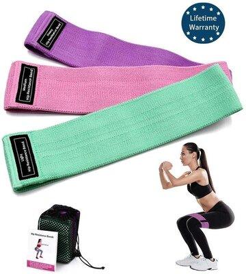 Продано: Набор тканевых фитнес резинок