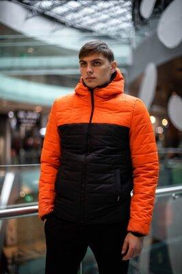 Демисезонная Куртка Temp бренда Intruder оранжевая - черная