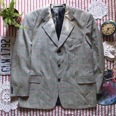Шикарный стильный пиджак в клетку C&A ретро винтаж размер 52