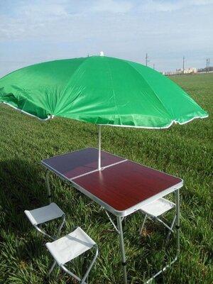 Стол раскладной для пикника 4 стула зонт в подарок