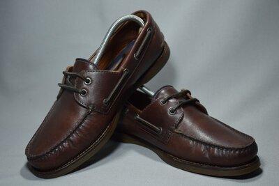 Brunello Cucinelli Vibram туфли топсайдеры мокасины мужские кожаные. Италия Оригинал 41-42 р/27.5 см