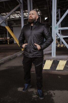 Куртка из кожзама черная 'Skipper' от Intruder