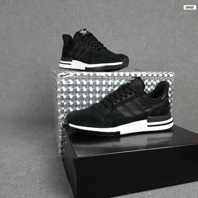 Мужские кроссовки 10425 Adidas ZX 500 чёрные