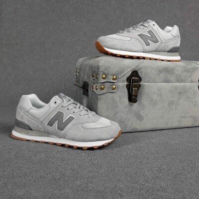 Мужские кроссовки 10424 New Balance 574 Светло серые SIN