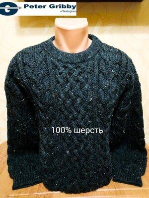 Добротный шерстяной свитер исторического британского бренда мужского трикотажа Peter Gribby.