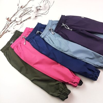 Детские весенние штаны MARAKAS для девочки и мальчика непромокаемые на девочку на мальчика плащевка