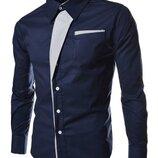 Рубашка мужская приталенная код 2 в 4 - х цветах