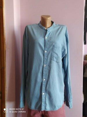 Рубашка мужская, джинсовая, L, H&M