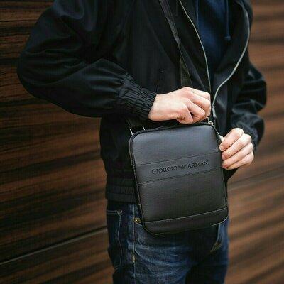 Мужская сумка-мессенджер через плечо, барсетка