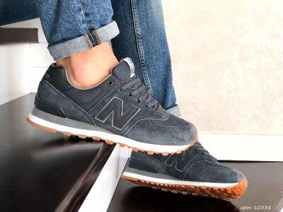 Кроссовки мужские New Balance 574, серые , замш/текстиль