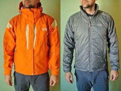 Яскрава куртка the north face 2 в 1, мембранна/ лижна куртка легка синтепонова