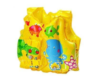 Дитячий надувний жилет Intex 59661 NP, від 3 до 5 років, 41 30 см , жовтий. Детский жилет. Интекс.