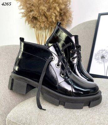 кожаные лаковые черные женские ботинки,ботинки черные лаковые женские,ботинки черные лаковые женские