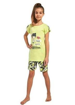 Летняя хлопковая пижама на девочку салатового цвета cornette 244/62 girl