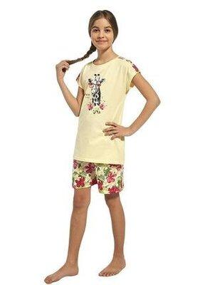 Летняя хлопковая пижама на девочку желтого цвета cornette 245/65 aloha