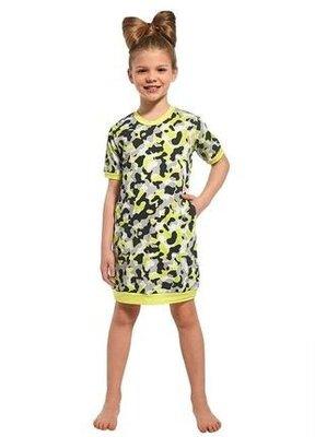 Ночная хлопковая сорочка на девочку салатового цвета cornette 284/69 girl 2