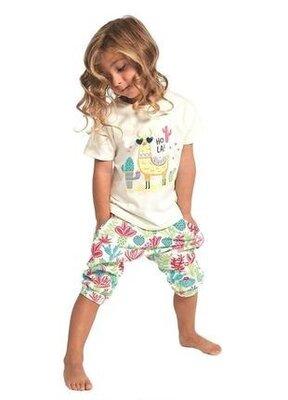 Детский домашний хлопковый комплект цвета экрю cornette 479/81 hola