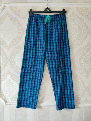 Размер S Яркие фирменные мужские тоненькие пижамные домашние штаны