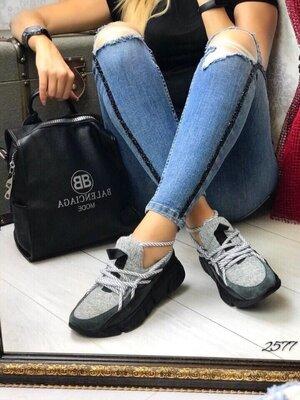 Женские натуральные кожаные замшевые лиловые серые кроссовки