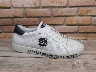 Кожаные белые кеды кроссовки Gattini 10150