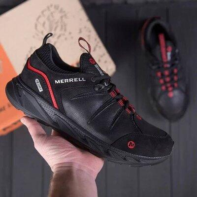 Мужские кожаные кроссовки merrell