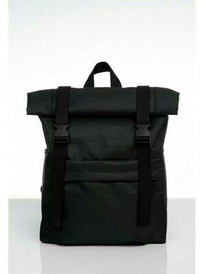Рюкзак ролл sambag унисекс rolltop черный тканевый