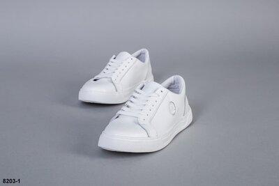 Мужские натуральные кожаные кеды кроссовки кроссы мокасины белые спортивные туфли