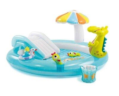 Продано: Детский надувной центр с горкой Intex 57165 «Крокодил», 201х170х84 см