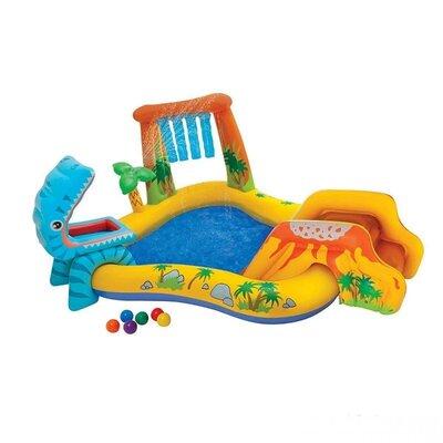 Продано: Детский надувной центр Динозавры 57444 249 191 109 см