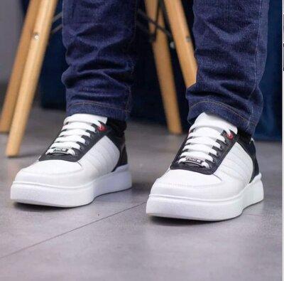 Кожаные кроссовки мужские 40-45