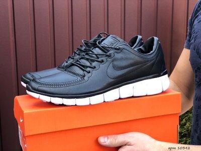 Nike Free Run 5.0 мужские кроссовки демисезонные черные 10342