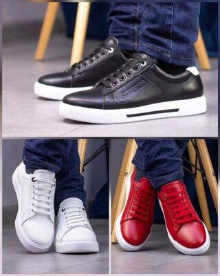Кожаные кроссовки мужские, кеды кожаные мужские 40-45