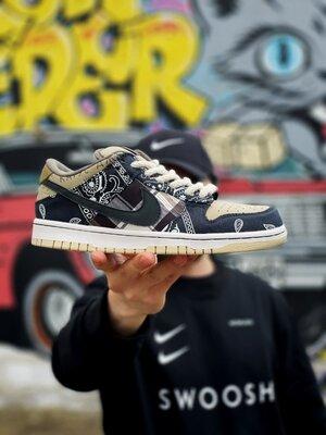Мужские Кроссовки Nike SB Dunk x Travis Scott Brown Cactus AAA 40-41-42-43-44-45