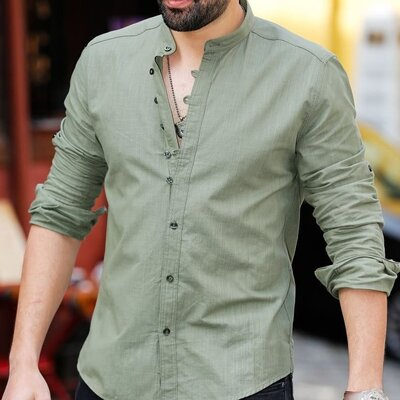 Рубашка мужская стойка Турция
