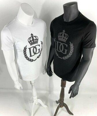 Брендовые футболки LUX качество Бренд - Dolce Gabbana Цвет - Белый Размера - S,